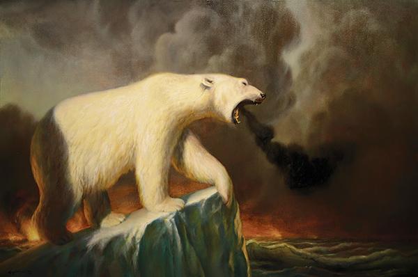 Martin Wittfooth polar bear painting