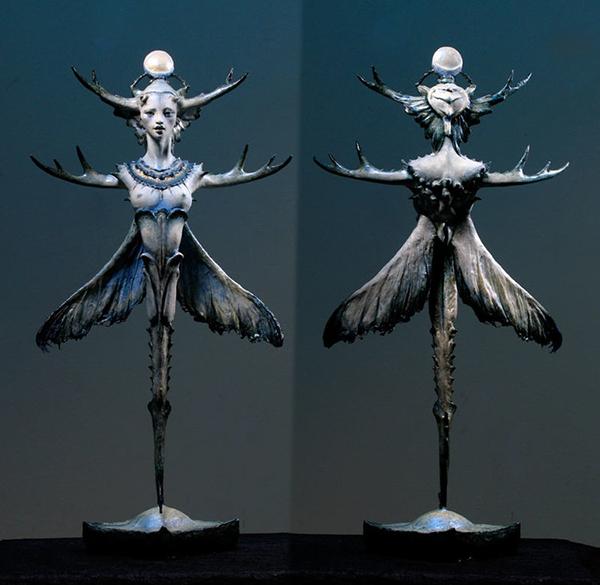 Forest Rogers surreal otherworldly sculptures
