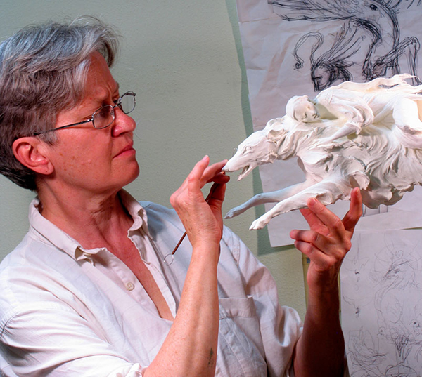 Forest Rogers in her studio