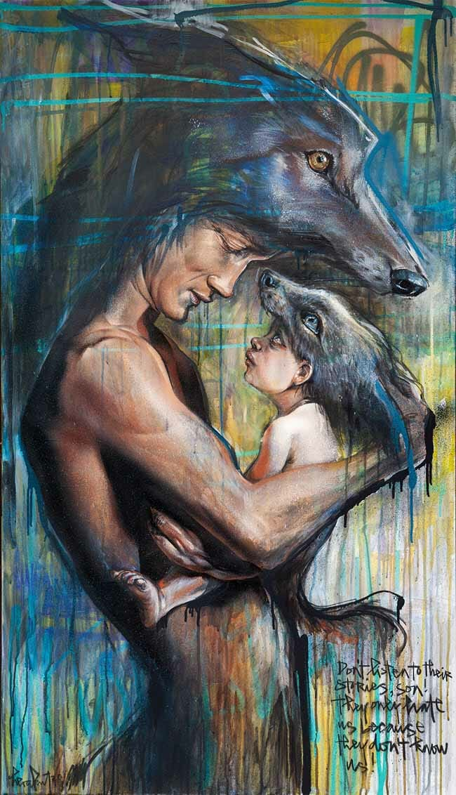 father and child art