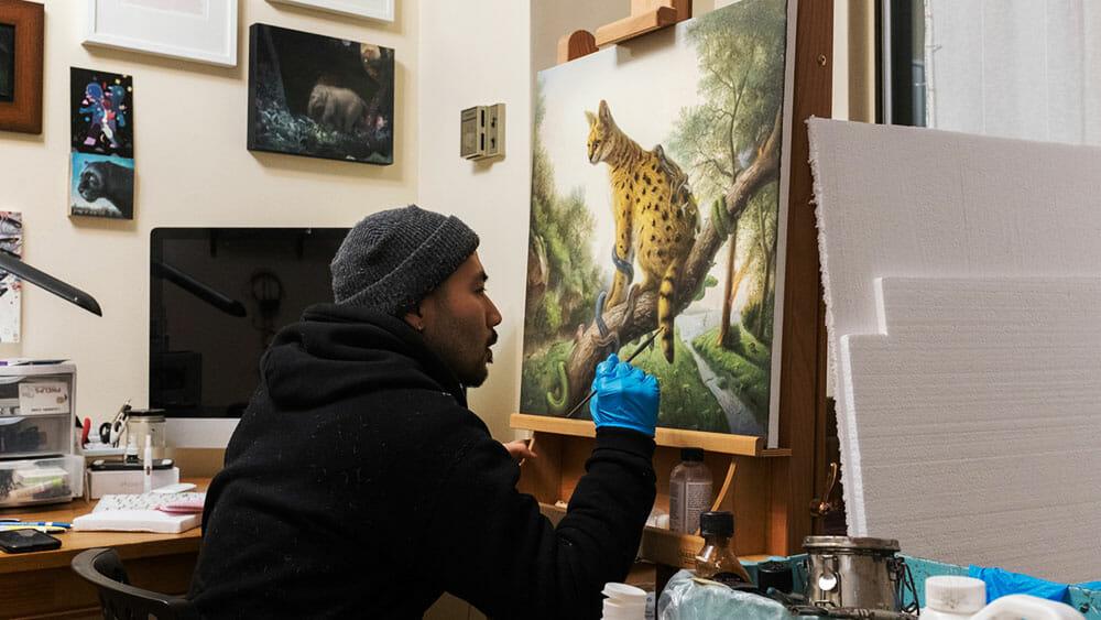 KiSung Koh in his studio