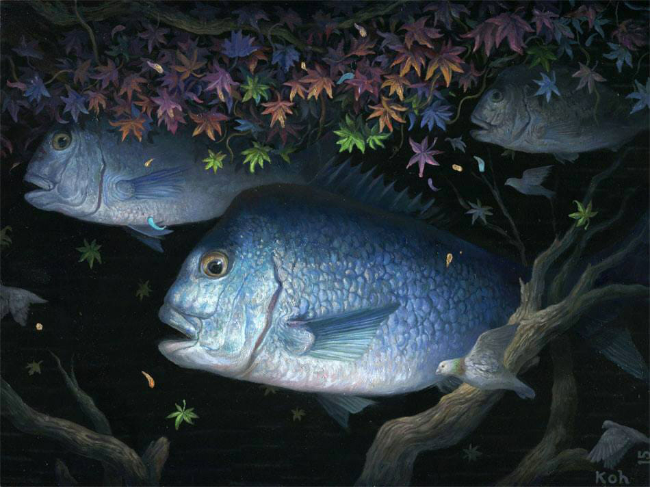 KiSung Koh fish painting