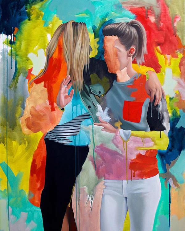Kim Leutwyler colorful realism figurative art