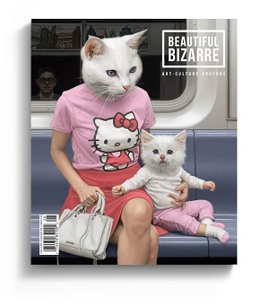 Painting by artist Matthew Grabelsky on the cover of art magazine Beautiful Bizarre Magazine art magazine pop surrealism