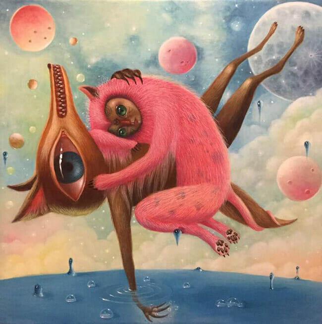 Peca pop surrealism painting