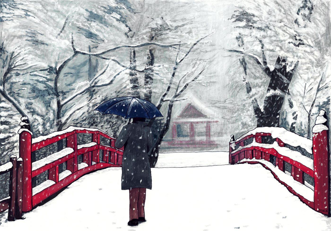 erin nicholls footprints in snow