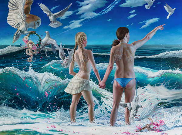 Jana Brike surreal nude women at the ocean painting - How do you set a price for your artwork?