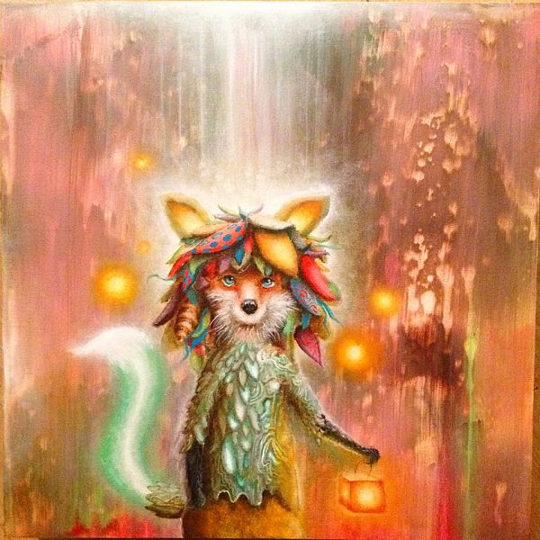 Scott Mills pop surreal fox art