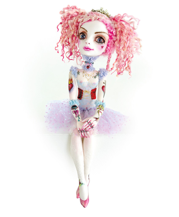 Sheri DeBow pop surreal pink hair art doll - How do you set a price for your artwork?