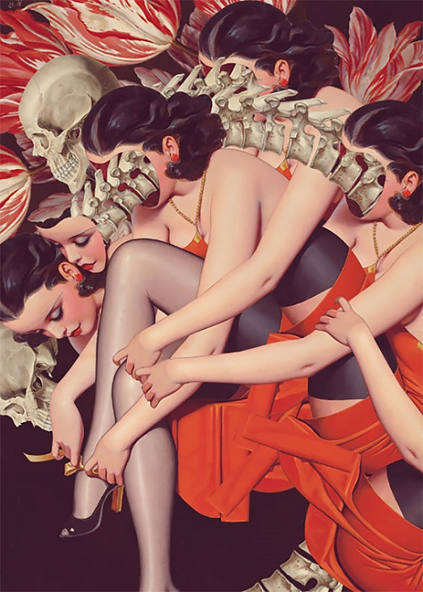 FFO Art pin-up girl collage