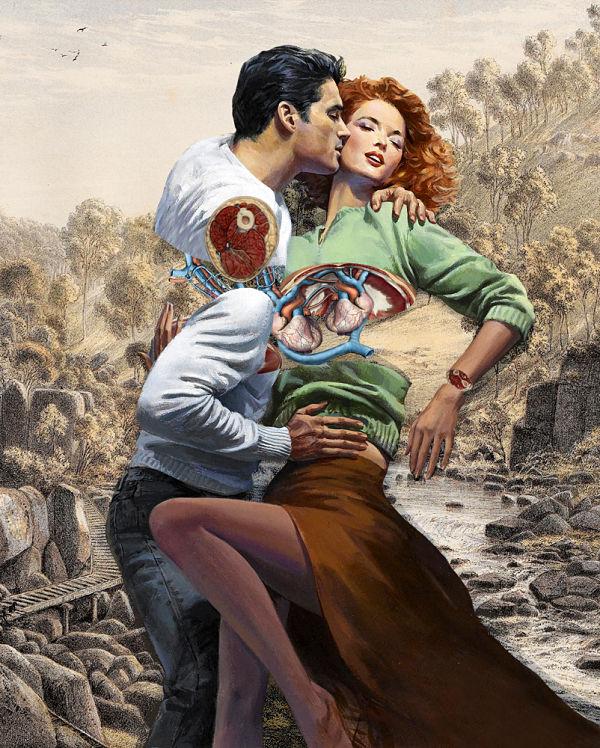 FFO Art human anatomy pop surrealism couple