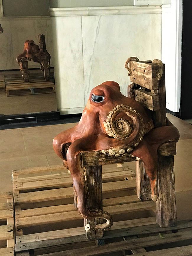 "Daniel J Stetzinger ""Assimilation"", Sculptural Porcelain, Stain, Underglaze, 33"" x 22"""