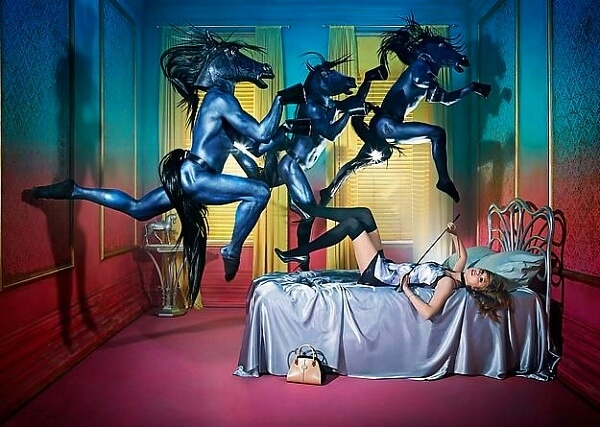 David LaChapelle Horses Equestrian Dreams Ad Campaign Tod's Handbags