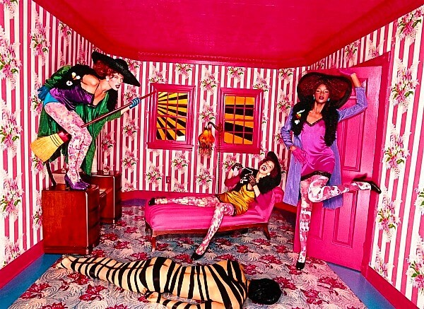 David LaChapelle Milla Jovovich Witches Broom Stripes