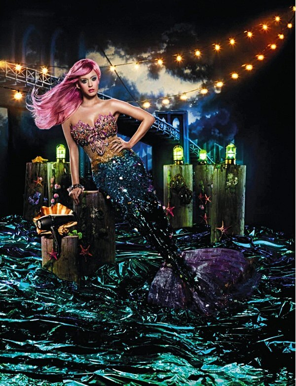 David LaChapelle Katy Perry Mermaid ghd Hair Straightener Ad Campaign