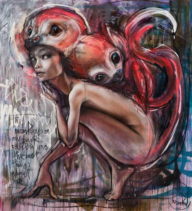 Herakut surreal nude graffiti painting - How Do Artists Get Their Work Seen/Shown by a Gallery?
