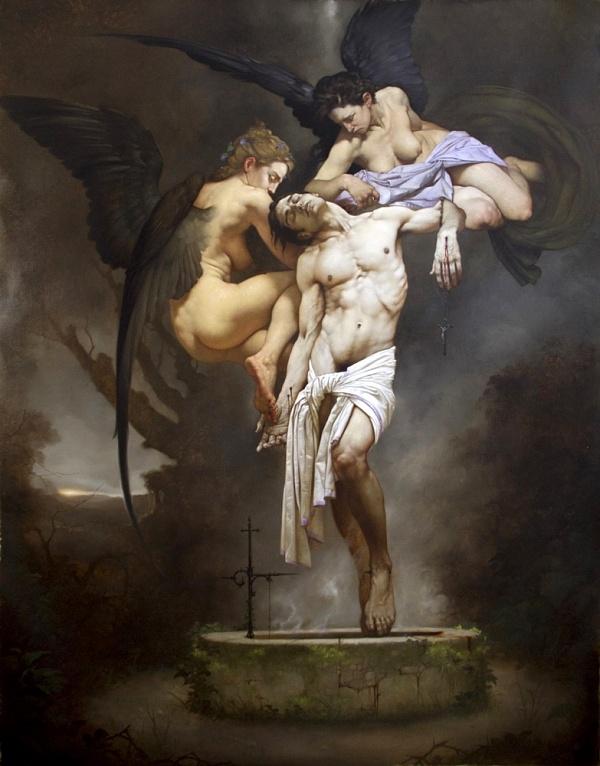 Roberto Ferri surreal angel figurative nude art