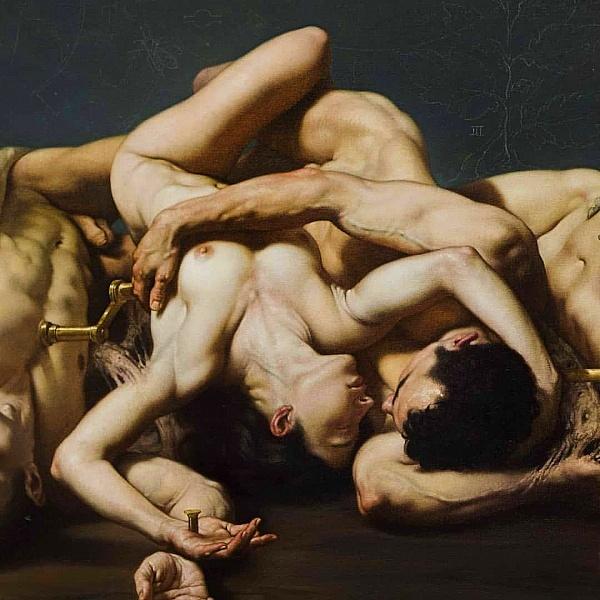 Roberto Ferri figurative art nude couple