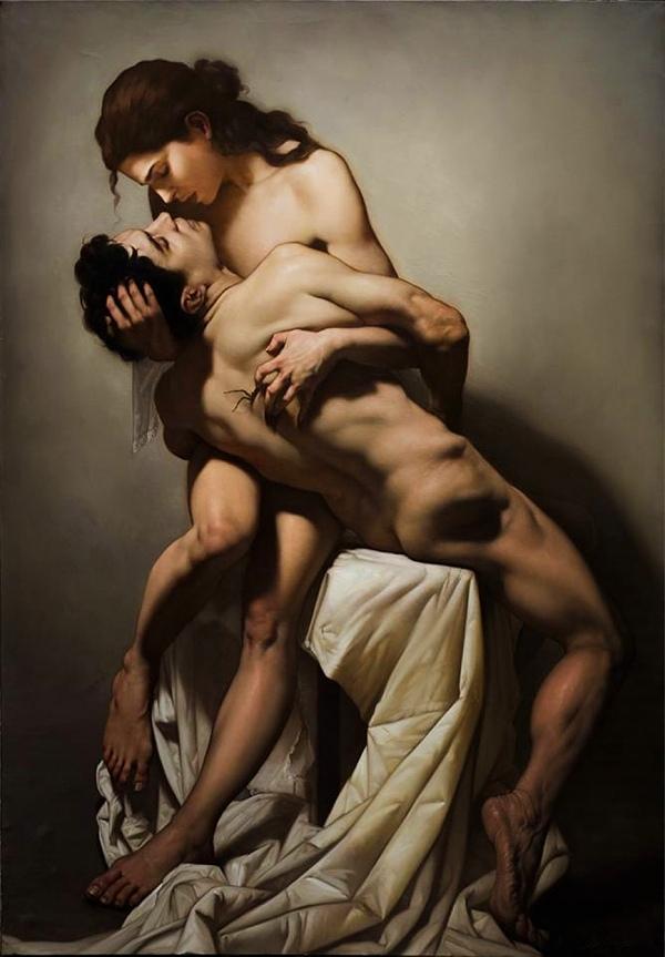 Roberto Ferri romanticism love couple nude art