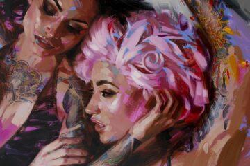 painting tattooed women
