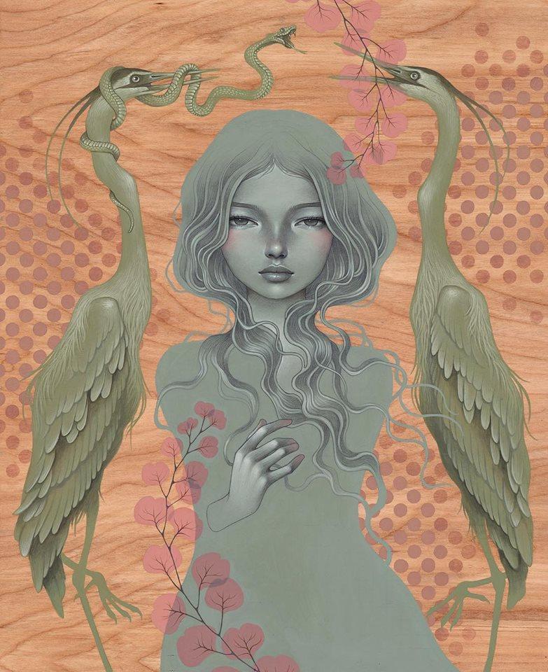 Audrey Kawasaki - pop surrealism painting