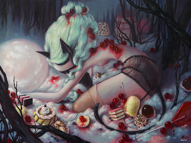 Brandi Milne Cat woman among candy - What Advice Would You Give On How To Get Gallery Representation?
