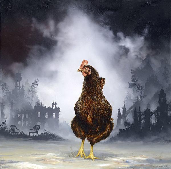 """Brian Mashburn, """"Lavonia"""", chicken painting"""