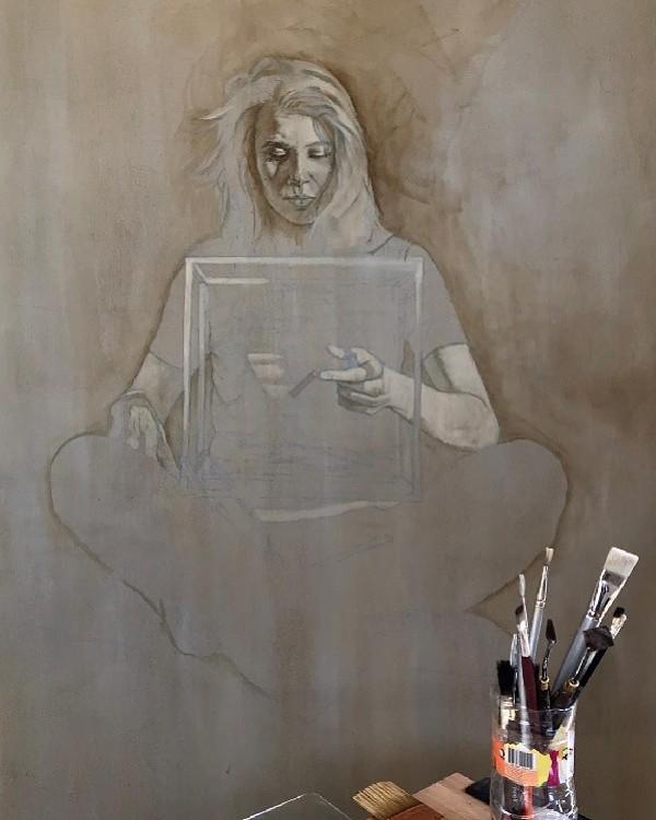 Daan Noppen portrait painting