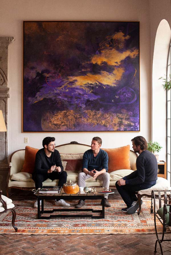 Daan Noppen, Daniel Martin and Santiago Pani art residency El Pez Soluble 2019