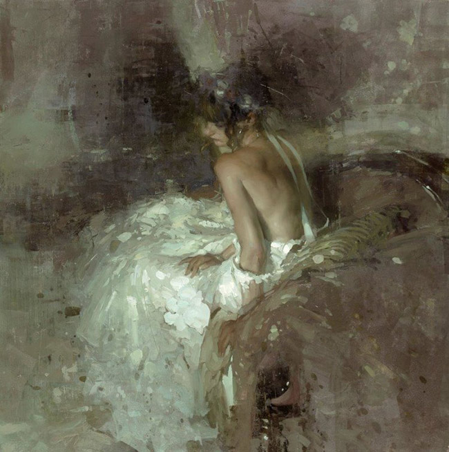 Jeremy Mann woman in white dress surreal painting - What Are the 3 Main Do's and Don'ts for Galleries When Working with Artists?