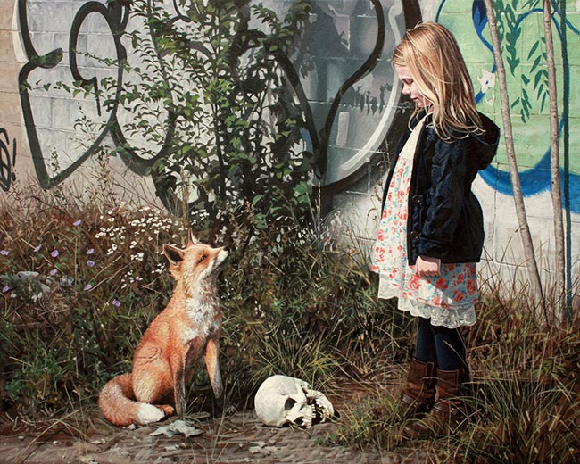 Kevin Peterson Girl and a fox looking at each other - What Advice Would You Give On How To Get Gallery Representation?
