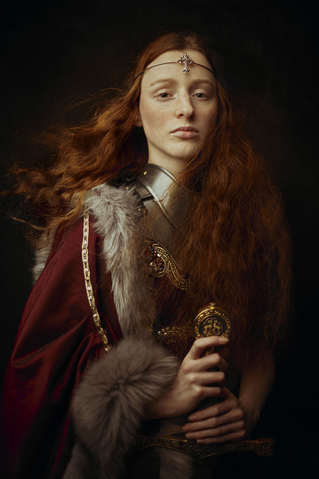 Laura Sheridan female knight portrait photography