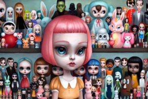 Mab Graves - pop surrealism doll painting