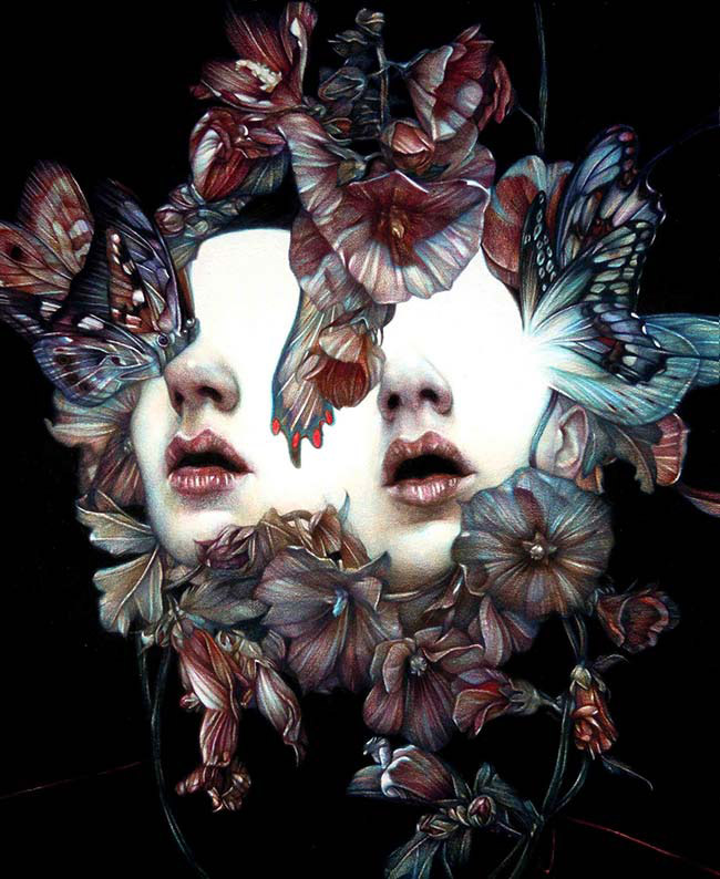 Marco Mazzoni pop surreal butterfly portrait - How Do You Keep Rooted in Your Values/Beliefs?
