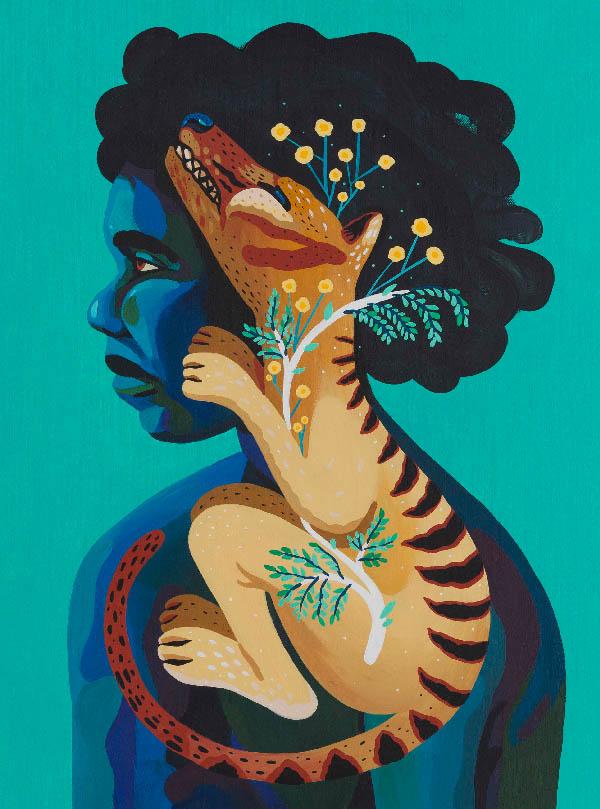 Marcos Navarro surreal animal and human portrait