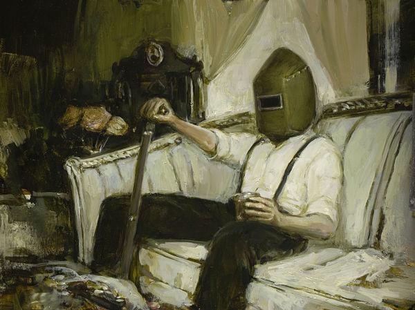 """Nadezda, """"The Waiting"""", dark art painting"""
