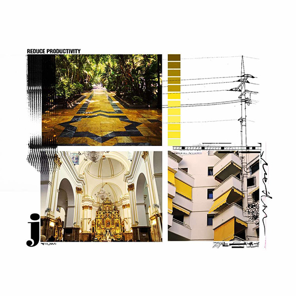 Samer Fouad collage buildings architecture yellow EXT./INT. INT./EXT.