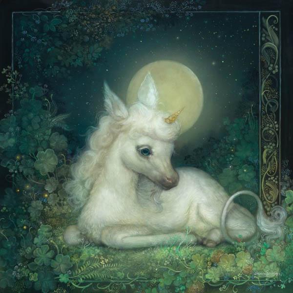 Annie Stegg Gerard - Unicorn painting