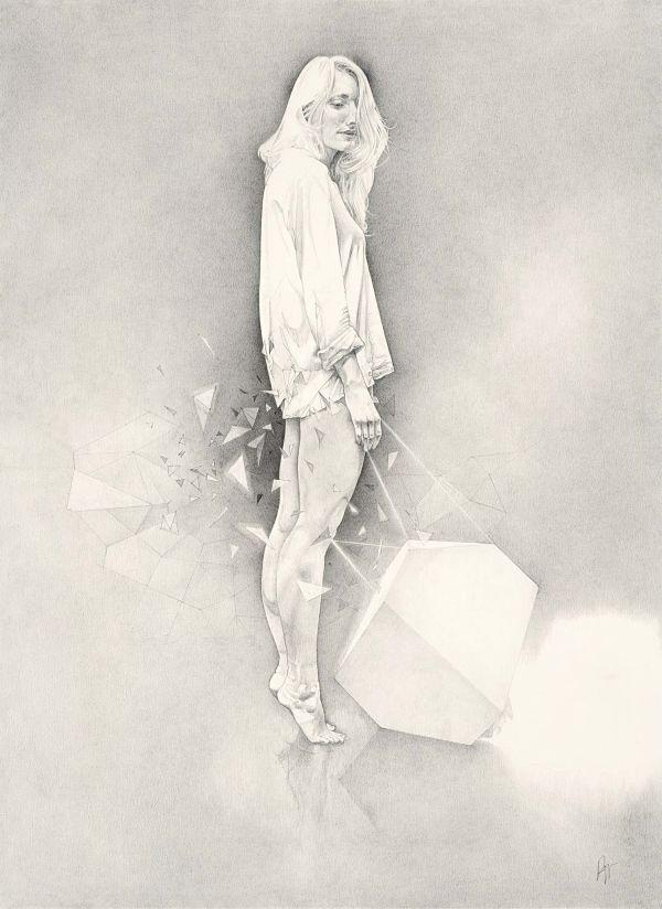 Daan Noppen pop surreal figure drawing