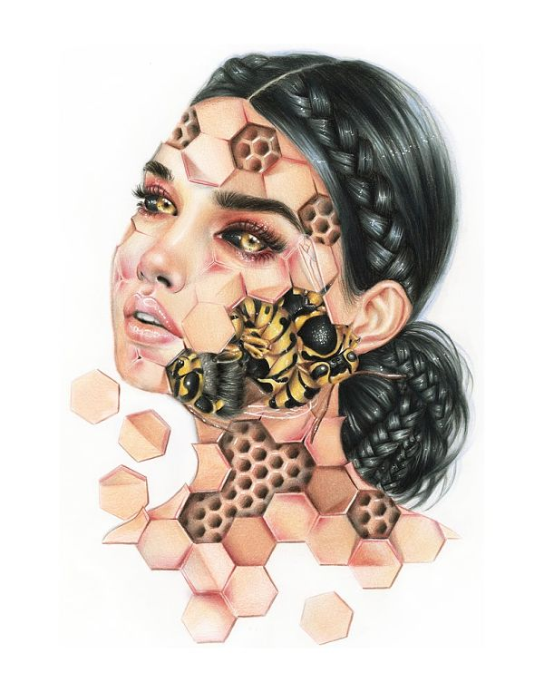relm bee trypophobia painting