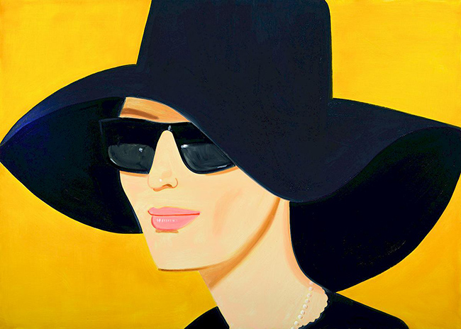 Alex Katz new contemporary vibrant paintings