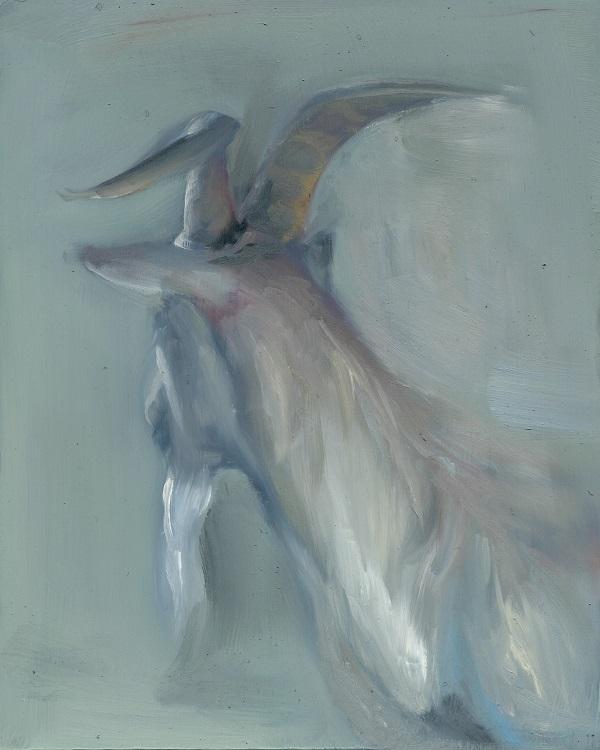Ana Sanchez white goat painting