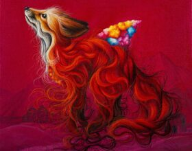 EWA PRONCZUK-KUZIAK - pop surrealism fox painting
