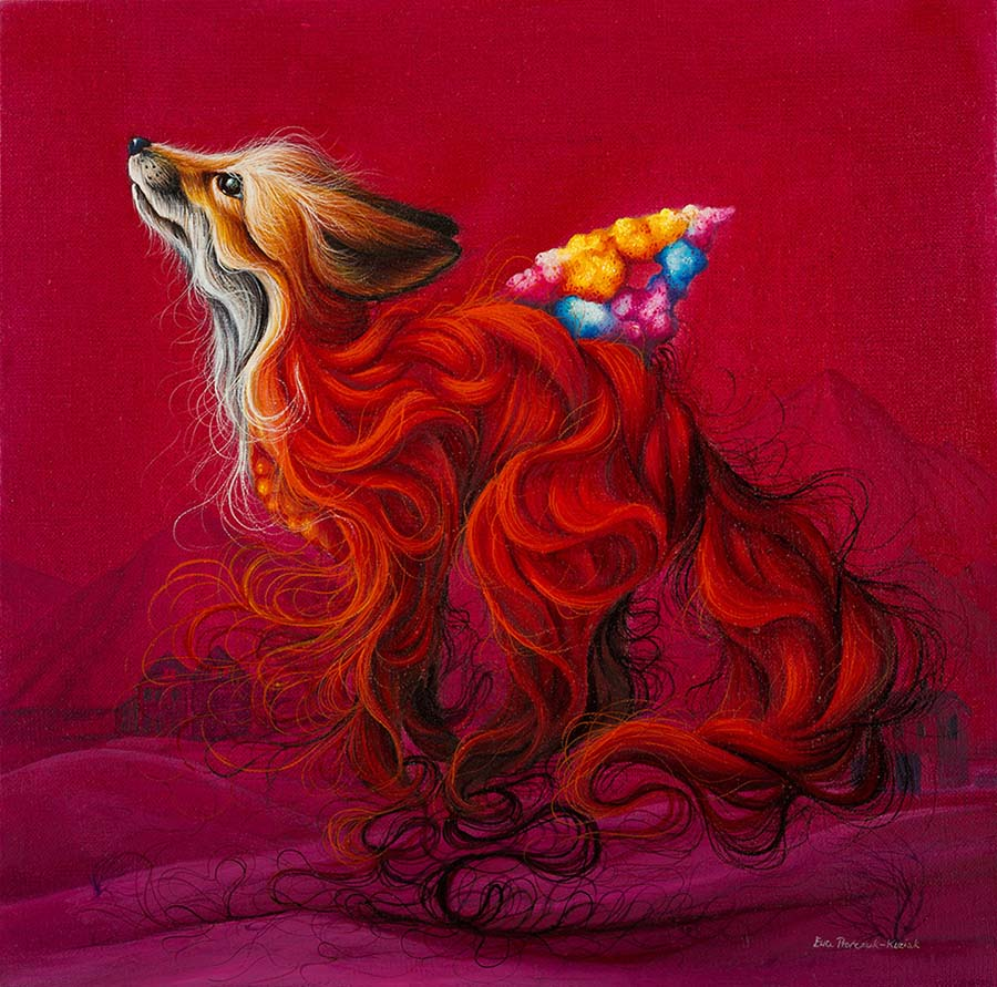 EWA PRONCZUK-KUZIAK - pop surrealism fox painting