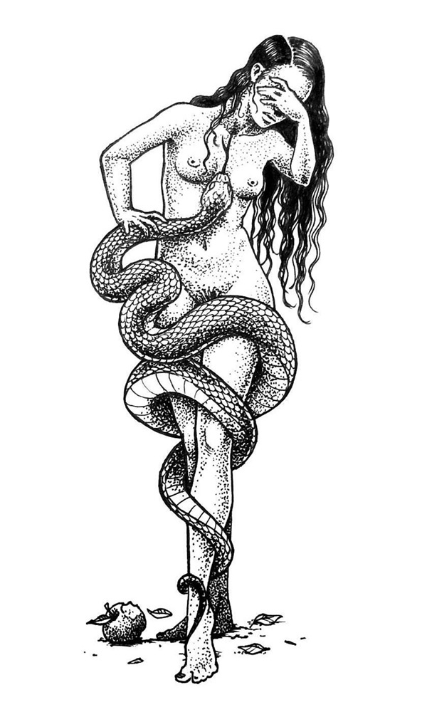 Eve Serpent illustration artist Nickas Serpentarius