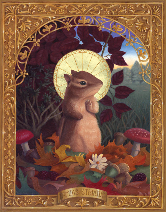 Gina Matarazzo chipmunk painting