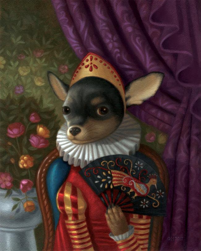Gina Matarazzo Violeta Victory dog portrait