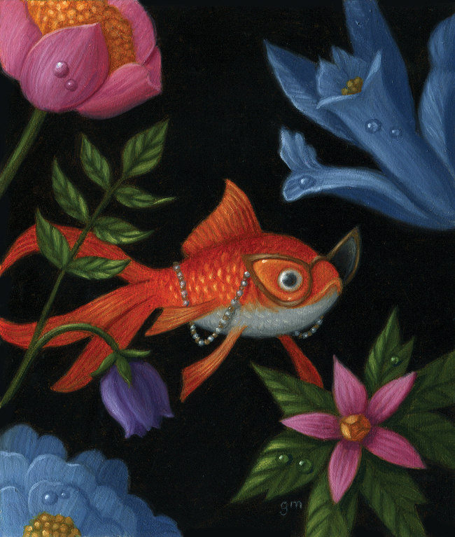 Gina Matarazzo Fabulous Fiona goldfish painting
