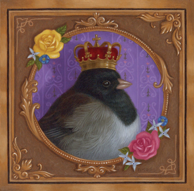 Gina Matarazzo king bird painting