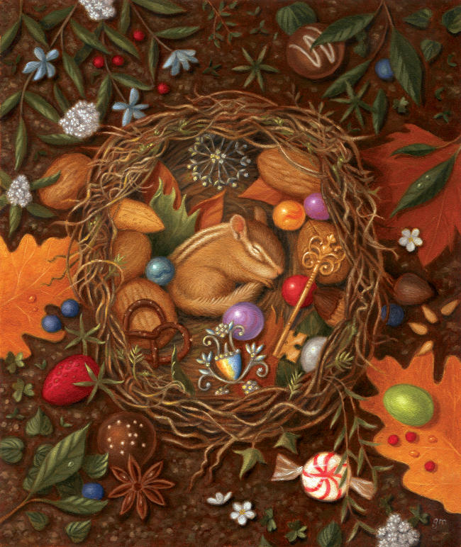 Gina Matarazzo sleeping nest painting